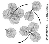 Set Leaf Clover . Vector...