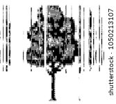 ascii art tree with glitch.... | Shutterstock .eps vector #1050213107