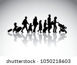 People Family Travel Silhouett...
