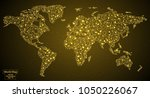 world map made of lines and... | Shutterstock .eps vector #1050226067