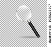 magnifying glass  loupe with... | Shutterstock .eps vector #1050235307