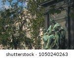 Small photo of Father figure in Budapeste's square
