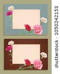 two horizontal frames  card for ... | Shutterstock .eps vector #1050242153
