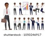 african american businessman... | Shutterstock .eps vector #1050246917