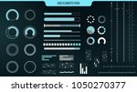 set of vector hud elements for...