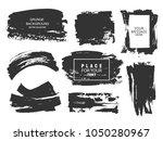 set of black paint  ink brush... | Shutterstock .eps vector #1050280967