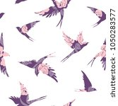 vintage pattern with little... | Shutterstock .eps vector #1050283577