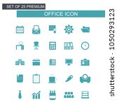 office icons set | Shutterstock .eps vector #1050293123