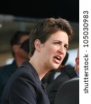 Small photo of DENVER-AUG. 25:MSNBC TV pundit Rachel Maddow speaks during a live broadcast from the 2008 Democratic National Convention on August 25, 2008.