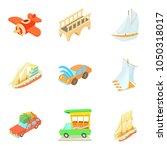 mode of transport icons set.... | Shutterstock .eps vector #1050318017