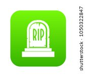 gravestone with rip text icon... | Shutterstock .eps vector #1050322847