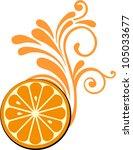 orange fruit slice isolated on... | Shutterstock .eps vector #105033677