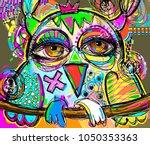 original abstract digital... | Shutterstock .eps vector #1050353363