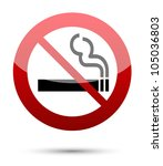 no smoking sign on white | Shutterstock .eps vector #105036803