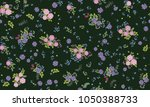 seamless folk pattern in small... | Shutterstock .eps vector #1050388733