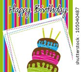 colorful birthday card with...