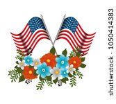 happy memorial day with... | Shutterstock .eps vector #1050414383