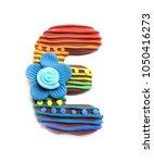 plasticine letter e. color... | Shutterstock . vector #1050416273