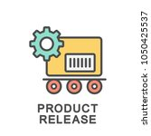 icon product release.... | Shutterstock .eps vector #1050425537