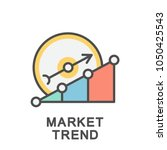 icon market trend. research of... | Shutterstock .eps vector #1050425543
