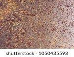 closeup rusty metal surface... | Shutterstock . vector #1050435593