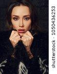 portrait of young beautiful...   Shutterstock . vector #1050436253