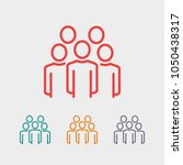 group of people vector icon ... | Shutterstock .eps vector #1050438317