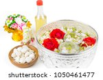 floating jasmines and roses in... | Shutterstock . vector #1050461477