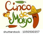 happy cinco de mayo with poster ... | Shutterstock .eps vector #1050500357