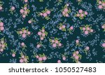 simple cute pattern in small... | Shutterstock .eps vector #1050527483