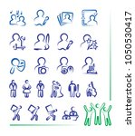vector icons and symbols ... | Shutterstock .eps vector #1050530417