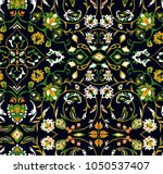 abstract oriental floral... | Shutterstock .eps vector #1050537407