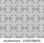 vector seamless geometric... | Shutterstock .eps vector #1050558833