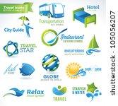 set of vector travel icons | Shutterstock .eps vector #105056207