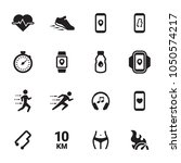 jogging  running people icons... | Shutterstock .eps vector #1050574217