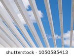 view through the wooden roof...   Shutterstock . vector #1050585413