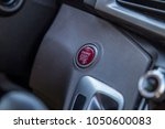 start engine button in car red... | Shutterstock . vector #1050600083