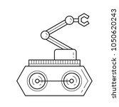 manipulator vector line icon... | Shutterstock .eps vector #1050620243