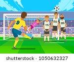 football player kicking penalty....