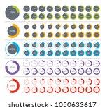 set of pie chart infographic... | Shutterstock .eps vector #1050633617