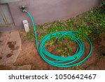 garden hose coiled up pile... | Shutterstock . vector #1050642467
