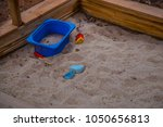 sandbox sand kids play shovel... | Shutterstock . vector #1050656813