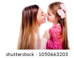 happy smiling mother and... | Shutterstock . vector #1050663203