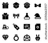 solid vector icon set   gift...   Shutterstock .eps vector #1050663557