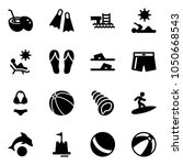 solid vector icon set   coconut ... | Shutterstock .eps vector #1050668543