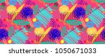 seamless pattern with abstract... | Shutterstock .eps vector #1050671033