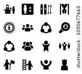 solid vector icon set  ... | Shutterstock .eps vector #1050677663
