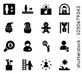 solid vector icon set  ... | Shutterstock .eps vector #1050679343