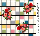 seamless pattern with beautiful ... | Shutterstock .eps vector #1050680693