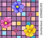 seamless pattern with cute... | Shutterstock .eps vector #1050681203